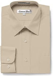 Men's Regular & Slim Fit Long Sleeve Solid Dress Shirt