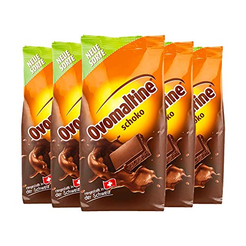 Ovomaltine chocolate en polvo, 450 g de 5 paquetes