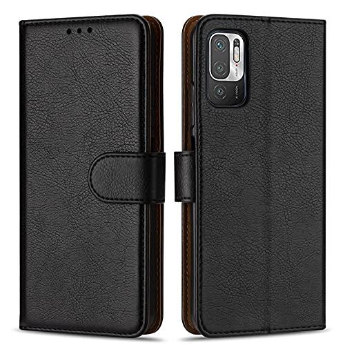 Hülle Collection Hochwertige Leder hülle für Xiaomi Redmi Note 10 5G Hülle (6,5