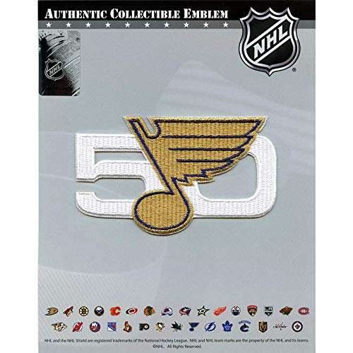 National Emblem St. Louis Blues 50th Anniversary NHL Eishockey Patch/Aufnäher