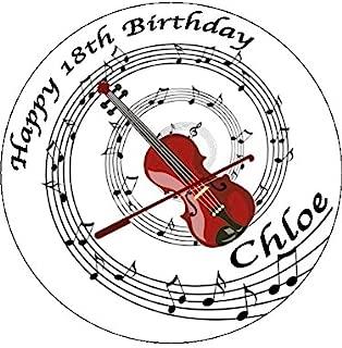Novelty Personalised Violin & Music Notes 7.5