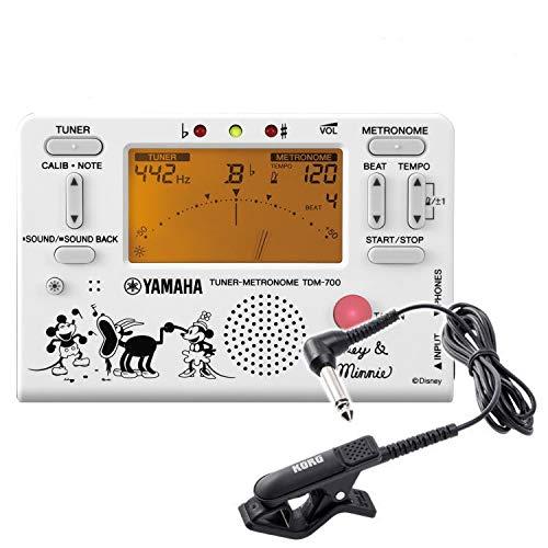 YAMAHA チューナーメトロノーム ミッキー&ミニー TDM-700DMN5 クリップマイク付き(ヤマハ TDM700DMN5) (クリップマイク:ブラック)