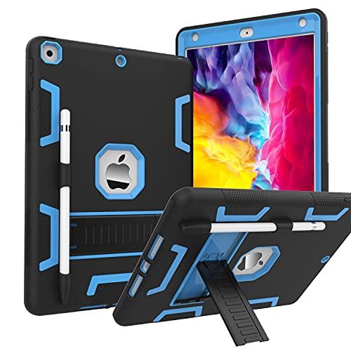 CCMAO - Funda para iPad de 9ª generación, iPad de 8ª/7ª generación, armadura híbrida de tres capas a prueba de golpes, resistente...