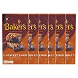 Baker's Unsweetened Baking Chocolate Bar, 4 OZ (Pack of 6)