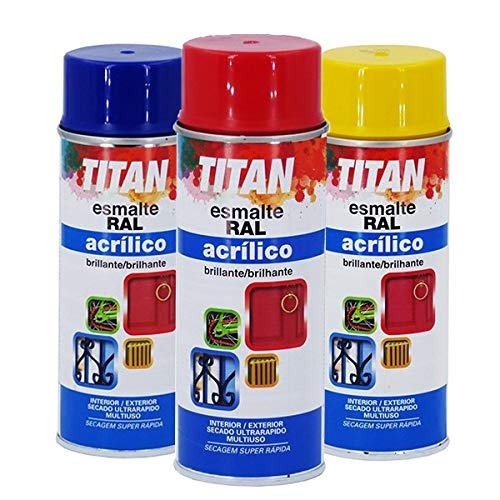 Esmalte Acrílico Titan Spray 400 mL - RAL 1015