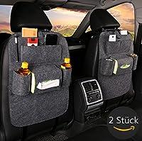 Großes Fassungsvermögen: Auto Rücksitz Organizer mit Taschen sind verschiedene Größen der Steine passend für Laptops, Flaschen, Tablet, Regenschirm, Handy, oder Spielzeug