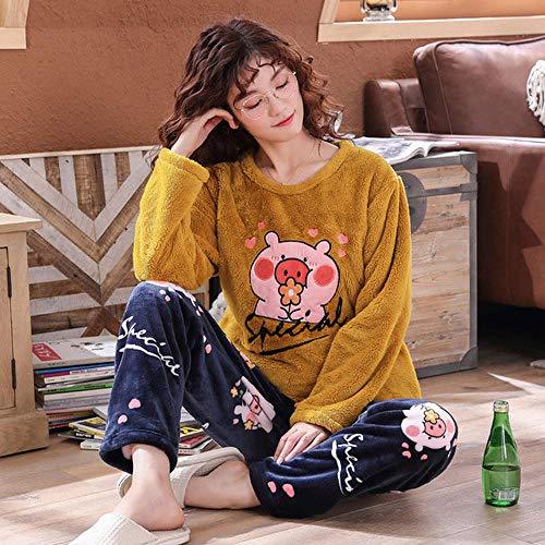 ODMKGE Pijamas Gruesos de Invierno para Mujer, Pijamas de