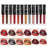 Rechoo Matt Rouge a Levres, Longue Durée Waterproof Matte Lipsticks Maquillage à Lèvres Liquide, Nude (FADDE 12pc)