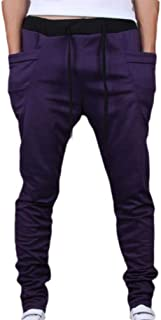 RkBaoye Men's Straight Harem Pants Plus Size Sim Pockets Jogger Sport Pants