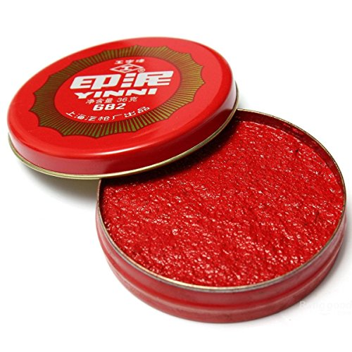 Saver Calligraphy Painting Red Ink Paste Round Chinese Yinni Pad New 36g