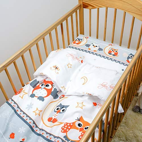 Wattierte Steppdecke und Kissen 120x90cm, 2 teiliges Baby-Bettset - Muster 6