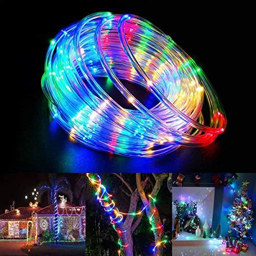20M Solar Lichtschläuche Lichterkette, IP68 Bunt LED Wasserdicht Schlauch Kette, RGB PVC LED Lichterkette, KWODE Außen Rope Fairy Light für Innen, Outdoor, Partybeleuchtung, Garten, Zaun, Teich [2020]