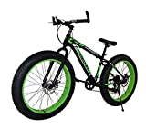 GASLIKE Fat Tire Mountain Bike for Men And Women, 26-Inch Wheels 17 Inch High-Carbon Steel Frame, 4.0 Inch Wide Tires 7-Speed