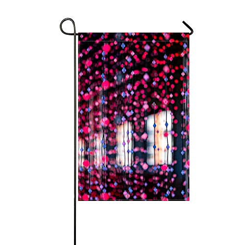 DRXX Bandera de jardín Guirnaldas de Luces de Colores 30x45cm (sin asta de Bandera)