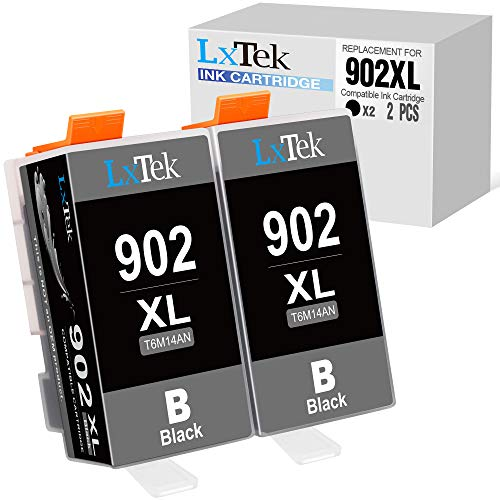 LxTek Compatible Ink Cartridge Replacement for HP 902XL to use with Officejet 6956 (2 Pack)