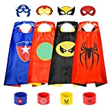 Toys for 2-10 Year Old Boys Girls, Superhero Capes for Kids 4-8 Year Old Christmas Costumes for Boys...