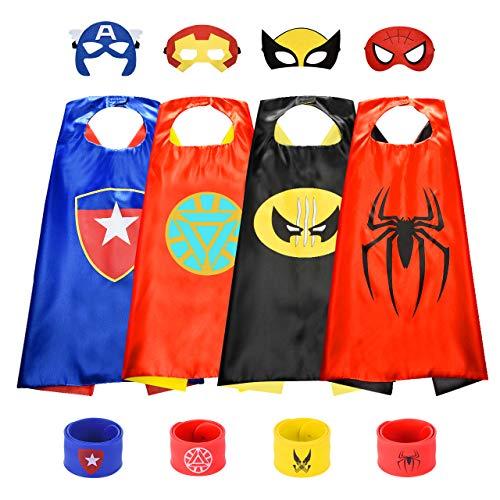 BOXYUEIN Deguisement Super Hero, Cadeaux Garcon 3 4 5 6-10 Ans Jouets pour Garçons de 3-10 Ans Jouet de Super-héros Jouet Enfant 3-10 Ans Garcon Cadeau Enfant 3-12 Ans Garcon