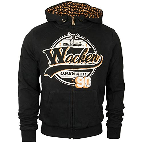 Wacken Open Air Hoodzip Classic Rock schwarz (L)