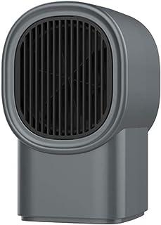 Calefactor Aire Frio y Caliente para Hogar Oficina Mini Calentador de Aire eléctrico Calentador de Invierno portátil Ventilador PTC Estufa de calefacción Calentador de radiador Ventilador-Gris