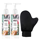 Self Tanner and Tanning Mitt - with Natural & Special Ingredients, Sunless Self Tanning Lotion for Quick Sunless Tanning, Bronze (5.12 FL OZ, Pack 2)