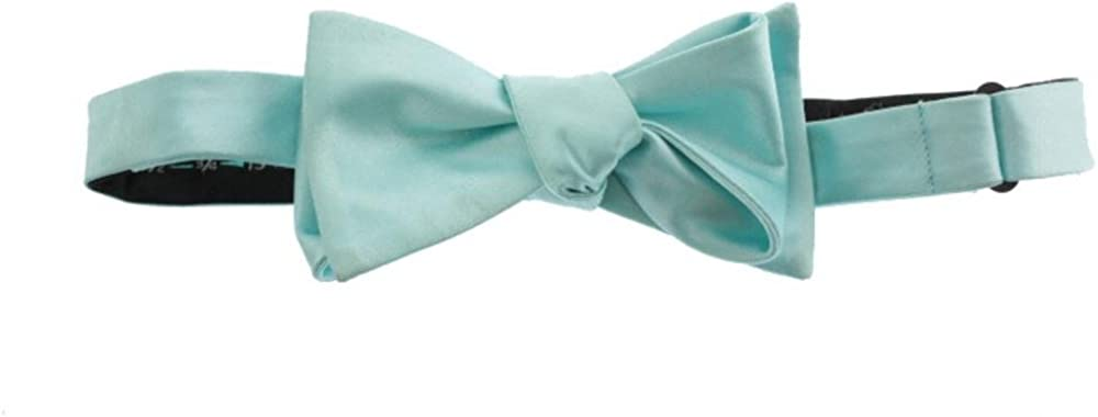 Countess Mara Mens Sateen Solids Orange Bow Tie