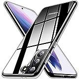 RANVOO Kristallklar Hülle Kompatibel für Samsung Galaxy S21 5G (6,2 Zoll), Ultradünne Slim Fit Schutzhülle Soft TPU Silikon HandyHülle Unterstützt Wireless Charging, klar