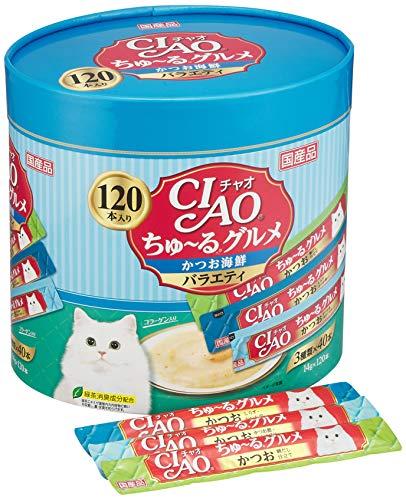 チャオ (CIAO) 猫用おやつ ちゅ~る グルメ かつお海鮮バラエティ 14g×120本入