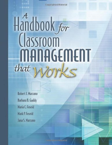 Compare Textbook Prices for A Handbook for Classroom Management that Works 1 Edition ISBN 9781416602361 by Marzano, Dr Robert J,Gaddy, Barbara B