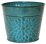 Robert Allen MPT02002 Laurel Series Metal Planter Flower Pots, 4', Lagoon