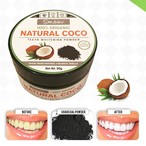Teeth Whitening Charcoal Powder Natural - Safe Use for Sensitive Teeth Gums