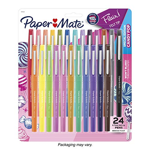 Paper Mate Flair Felt Tip Pens, Medium Tip, Limited Edition, 24 Count
