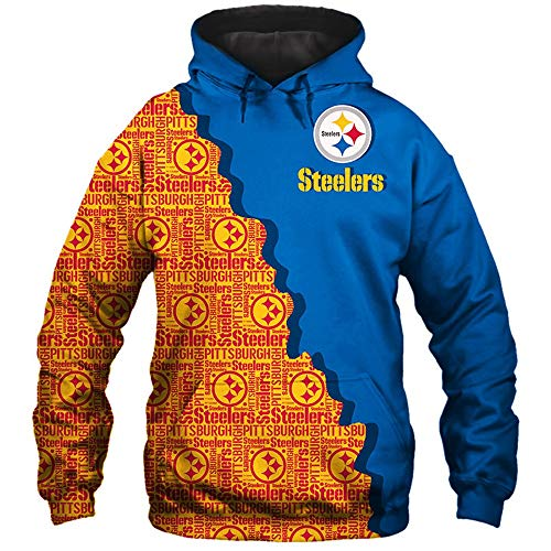 Hoodie Sweater NFL Pittsburgh Steelers Fans Langarmtrikot Unisex Casual 3D Radfahren Trendy Frühlings-Sport-Jacke - Teen Gift A-XXL