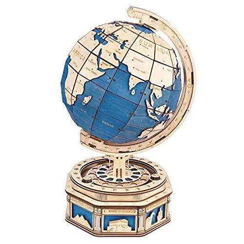 Robotime Der Globus 3D Puzzle 567 PCS Holz Selbstmontierende Puzzle Modellbausätze mit Secret Locker Home Decorationn Geschenk für Kinder und Erwachsene