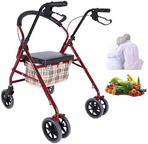 Klappbar Einkaufstrolleys Verstellbarer Griff Einkaufstrolley Einkaufskörbe In 1 Klappbarer Einkaufswagen Super Loading 100kg Klappbarer Rollstuhl Rollstuhl Rollstuhlsitz 44 Cm Wein-weinkeller