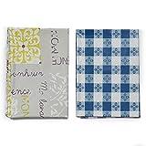 Mantel de PVC plastificado antimanchas, rectangular, paquete de 2 unidades, diseños...