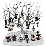 Bigmac 18 Stile Coffee Serie Charm Schlüsselanhänger Sets Miniatur Neuheit Barista Geschenk für...