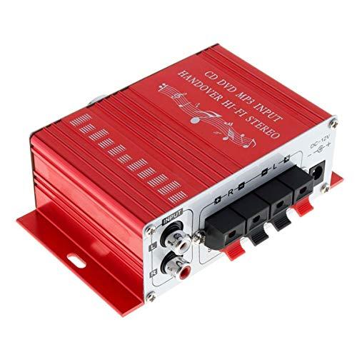 Car Motorcycle Radio Home Mini Hi-Fi DC Stereo Audio Amplifier AMP 12V 2CH Car Stereo Amplifier Digital Player 12V Hi-Fi Support USB/SD/FM/MMC/DVD / MP3 Input