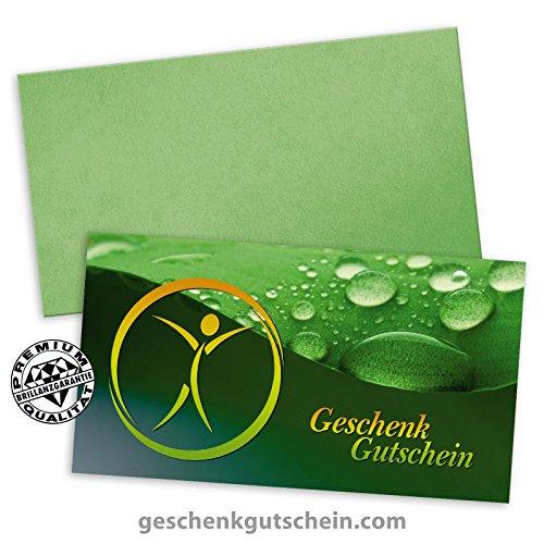 """25 Premium Geschenkgutscheine Gutscheine zum Falten\""""Multicolor\"""" + 25 Kuverts für Physiotherapie, Naturheilkunde, Ergotherapie MA236 pos-hauer"""