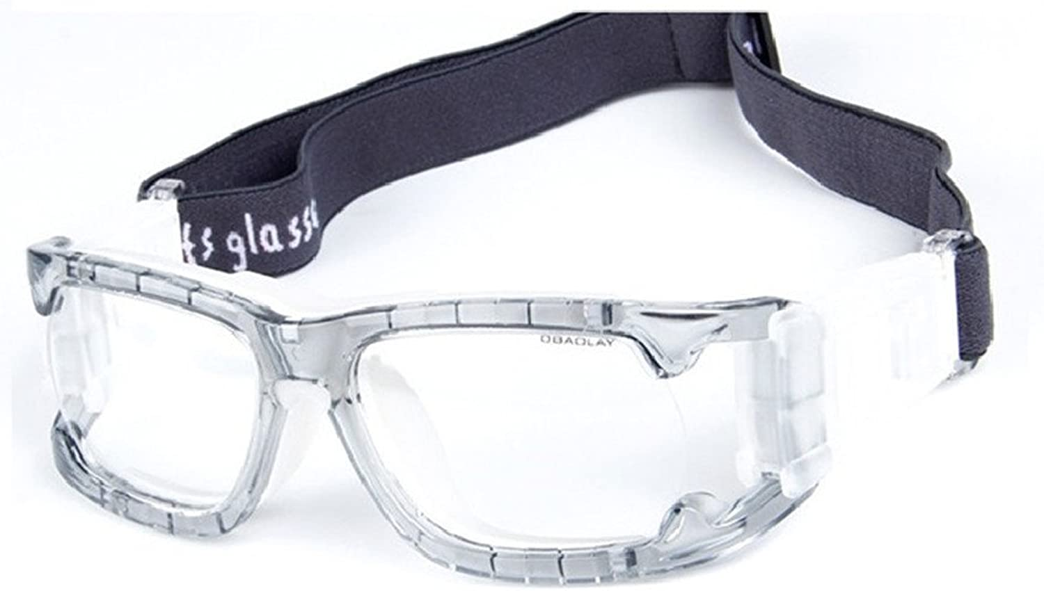(Transparent Grey006) - Kagogo Sports Goggles Predective Basketball Glasses Safety Goggles for Adults with Adjustable Strap for Basketball Football Volleyball Hockey Rugby