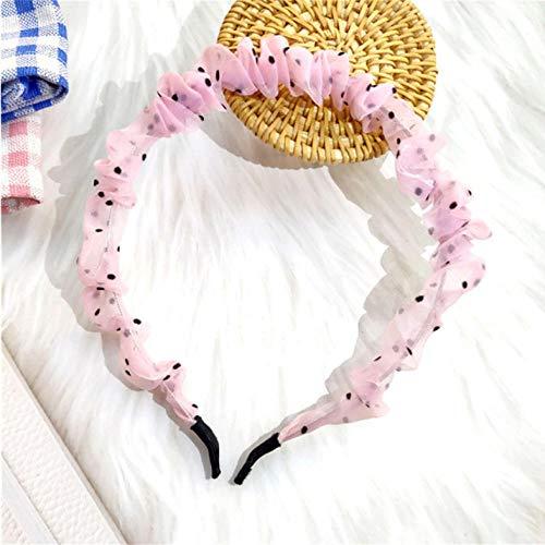 Bandeau à Pois pour Femmes Filles Cheveux tête cerceaux Accessoires imprimé Floral Bandeau Cheveux Accessoires-Rose