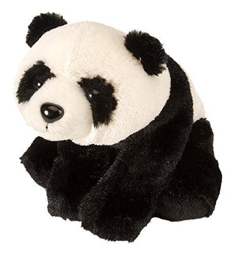 Lashuma Plüschtier Panda Bär, Stofftier Schwarz - Weiß, Kuscheltier sitzend 20 cm
