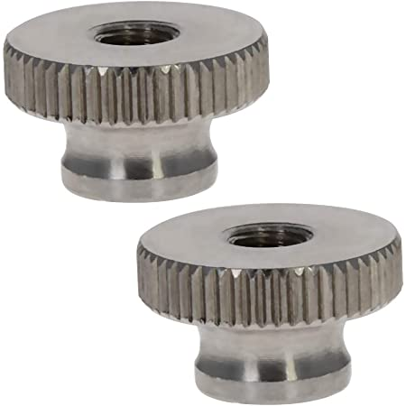 Yibuy 100Pcs Round Knurled Nuts Thumb Nuts Embedment Nuts M2 Thread 6mm Length