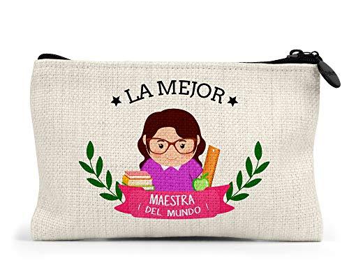 Monedero la Mejor Maestra del Mundo Regalo Original Profesores Personalizado