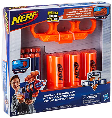 NERF Upgrade Kit: 3 Shells, 9 Darts, Shell Holder