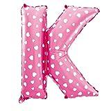 Cotigo-Globo Letra Foil Color Rosa con Corazón para Fiestas de Cumpleaños 40cm (K)