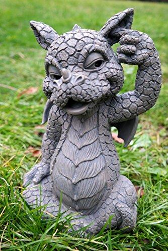 Unbekannt Süsser Gartendrache kratzt Sich im Ohr Drache Figur Gartenfigur