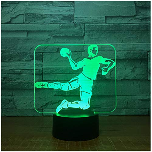 Nachtlicht NachttischLampee Handball 3D Led Lampe 7 Color Night Lampes For Kids Touch Usb Table Lampe Baby Sleeping Nachtlicht Room Lampe
