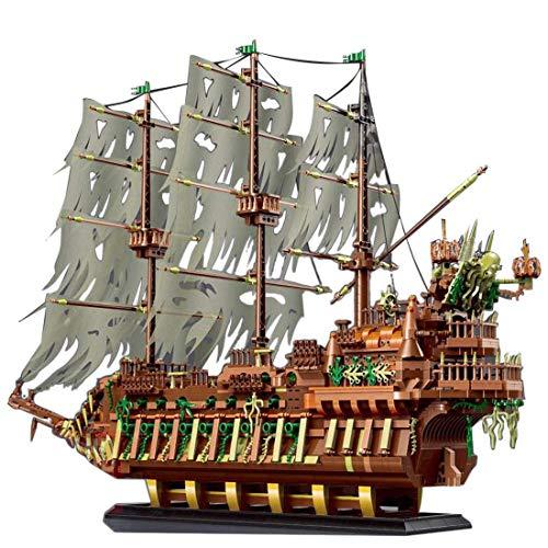 Kit de construcción de Modelos de Barco PIXL Pirate para el Barco de Fantasmas de holandés Volador, 3653 Piezas compatibles con Lego