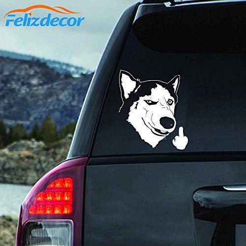Felizdecor DXLING Vinyl Animals Car Sticker Husky Dog Decal Waterproof Removable Car Decor,Laptop Decals (6', L450)