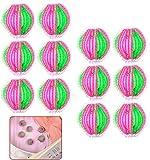 QWEPU 12pcs Bolas Bolas de Lavado Unidades de Bolas de lavandería para Lavar el Pelo de la Lavadora, Pelotas de Lavado para Eliminar el Pelo de Mascotas, Bolas de Secado Reutilizables para Eliminar